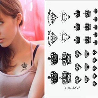 Buy Gemma 10 5 6 Cm Crown Design Fashion Temporary Tattoo For Women