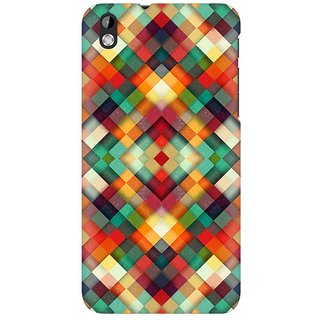 Mobicture Abstract Pattern Premium Printed High Quality Polycarbonate Hard Back Case Cover For HTC Desire 816 With Edge To Edge Printing