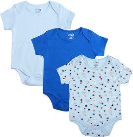 Gkidz Infants Pack Of 3 Multicolor Halfsleeve Combo Bodysuits