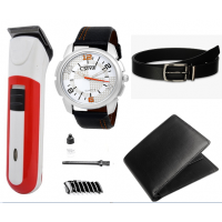 Combo of Trimmer , Watch , Wallet and Belt 3