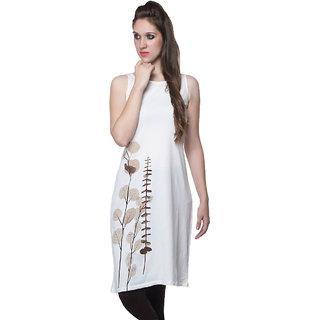 W - Women Printed Cotton Kurta White