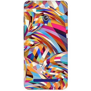 Mobicture Abstract Pattern Premium Printed High Quality Polycarbonate Hard Back Case Cover For Asus Zenfone Go With Edge To Edge Printing