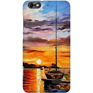 Mobicture Abstract Design Premium Printed High Quality Polycarbonate Hard Back Case Cover For Huawei Honor 4C With Edge To Edge Printing