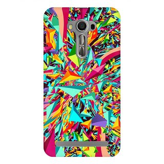 Mobicture Abstract Design Premium Printed High Quality Polycarbonate Hard Back Case Cover For Asus Zenfone 2 Laser ZE500KL With Edge To Edge Printing