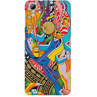 Mobicture Abstract Design Premium Printed High Quality Polycarbonate Hard Back Case Cover For HTC Desire 826 With Edge To Edge Printing