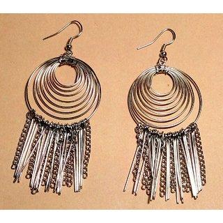 Silver Hoops Earring by Sparkling Jewellery