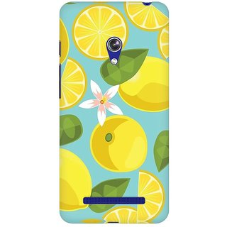 Mobicture Abstract Lemons Premium Printed High Quality Polycarbonate Hard Back Case Cover For Asus Zenfone Go With Edge To Edge Printing