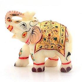 Avinash Handicrafts Rajasthani Handmade Elephant Marble Handicraft