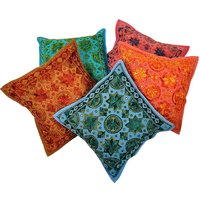 UFC Mart Hand Embroidered Cotton Cushion Cover 5Pc. Set