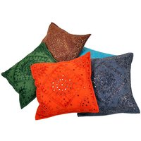 UFC Mart Modish Hand Embroidered Cotton Cushion Cover 5Pc. Set