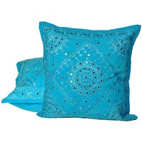 UFC Mart Mirror Lace Embroidered Cushion Cover 2Pc. Set