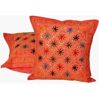 UFC Mart Ethnic Hand Embroidered Cushion Cover 2Pc. Set