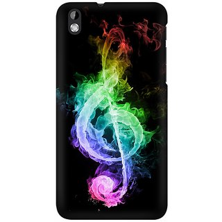 Mobicture Music Abstract Premium Printed High Quality Polycarbonate Hard Back Case Cover For HTC Desire 816 With Edge To Edge Printing