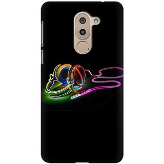 Mobicture Music Abstract Premium Printed High Quality Polycarbonate Hard Back Case Cover For Huawei Honor 6X With Edge To Edge Printing