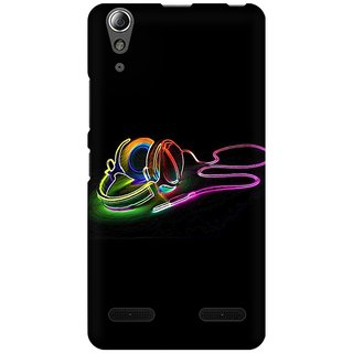 Mobicture Music Abstract Premium Printed High Quality Polycarbonate Hard Back Case Cover For Lenovo A6000 Plus With Edge To Edge Printing