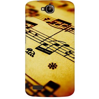 Mobicture Music Abstract Premium Printed High Quality Polycarbonate Hard Back Case Cover For Huawei Honor Holly With Edge To Edge Printing