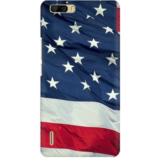 Mobicture America Premium Printed High Quality Polycarbonate Hard Back Case Cover For Huawei Honor 6 Plus With Edge To Edge Printing
