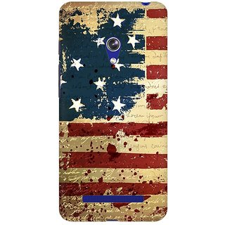 Mobicture America Premium Printed High Quality Polycarbonate Hard Back Case Cover For Asus Zenfone Go With Edge To Edge Printing