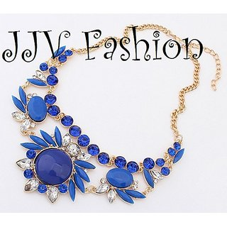 Party Choker Necklace - Blue
