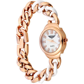 Xcel 6126 Analog Watch for Women - RoseGold White