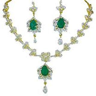 af11d094c2f American Diamond With Cz Necklace Set