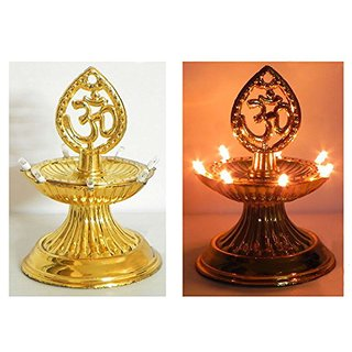 Alpha Electric Golden Diya Deepak Rice Light Bulb Lamp For Diwali