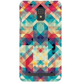 Mobicture Abstract Criss Cross Premium Printed High Quality Polycarbonate Hard Back Case Cover For Lenovo A6600 With Edge To Edge Printing