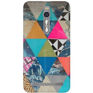 Mobicture Abstract Pattern Premium Printed High Quality Polycarbonate Hard Back Case Cover For Asus Zenfone 2 With Edge To Edge Printing