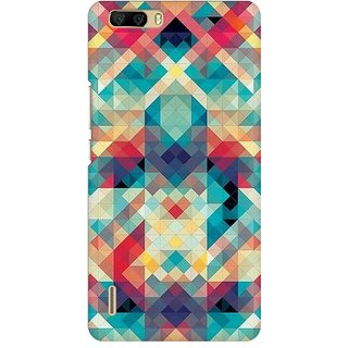 Mobicture Abstract Criss Cross Premium Printed High Quality Polycarbonate Hard Back Case Cover For Huawei Honor 6 Plus With Edge To Edge Printing