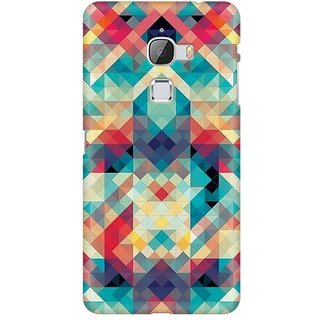Mobicture Abstract Criss Cross Premium Printed High Quality Polycarbonate Hard Back Case Cover For LeEco Le Max With Edge To Edge Printing