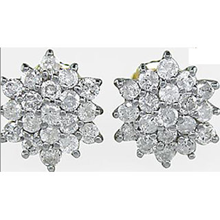 Wonderful Design Hallmark/14K Gold 0.76Ctw Diamond Earrings