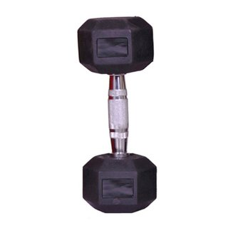 arnav Imported Rubber Coated Fixed Weight Hexagon Dumbbell One Pcs of 3 kg for Home Gym and Fitness