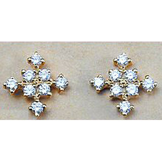 Gorgeous Hallmark 14k Gold 0 32ctw Diamond Earrings