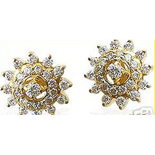 Hallmark/14K Gold 1.25Ctw Diamond Earrings
