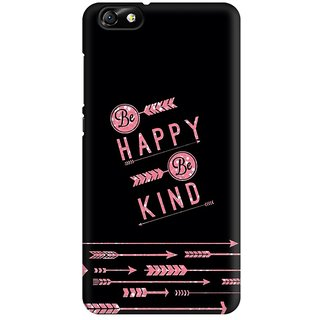 Mobicture Happy And Kind Premium Printed High Quality Polycarbonate Hard Back Case Cover For Huawei Honor 4X With Edge To Edge Printing