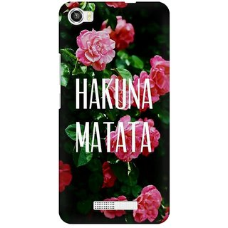Mobicture Hakuna Matata Premium Printed High Quality Polycarbonate Hard Back Case Cover For Lava Iris X8 With Edge To Edge Printing