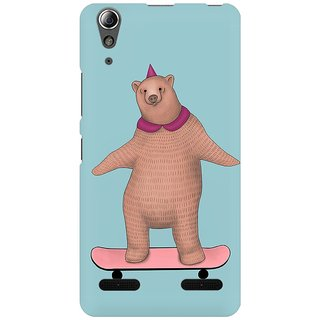 Mobicture Bear On Board Premium Printed High Quality Polycarbonate Hard Back Case Cover For Lenovo A6000 Plus With Edge To Edge Printing