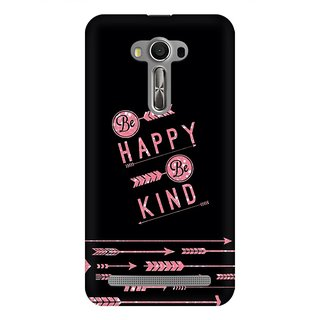 Mobicture Happy And Kind Premium Printed High Quality Polycarbonate Hard Back Case Cover For Asus Zenfone 2 Laser ZE550KL With Edge To Edge Printing
