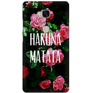 Mobicture Hakuna Matata Premium Printed High Quality Polycarbonate Hard Back Case Cover For Huawei Honor 5X With Edge To Edge Printing