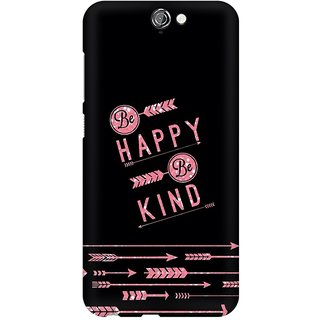 Mobicture Happy And Kind Premium Printed High Quality Polycarbonate Hard Back Case Cover For HTC One A9 With Edge To Edge Printing