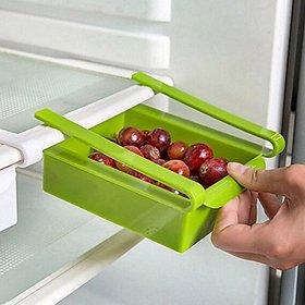 1.75 Liters Sliding Organizer Rack For Refrigerator Fridge Multi-Purpose Office Table, Kitchen Basket - FRIDGE