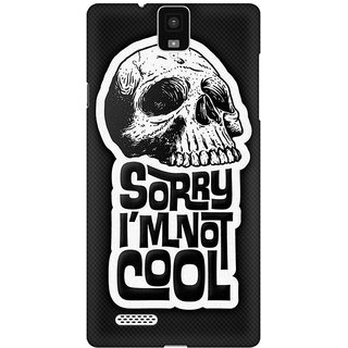 Mobicture I Am Not Cool Premium Printed High Quality Polycarbonate Hard Back Case Cover For InFocus M330 With Edge To Edge Printing