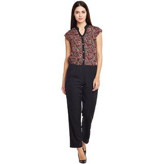 e220bc867a95 Buy Ruhaan s Women Multi   Black Floral Printed Jumpsuit Online ...