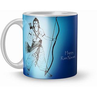 Earnam Printed 320ml Ceranic Coffee Mug For Diwali Gift Brother Sister Birthday
