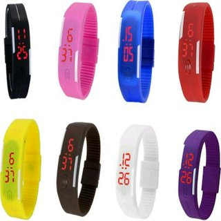 1 piece led band watch assorted color (Colour May Very Very)