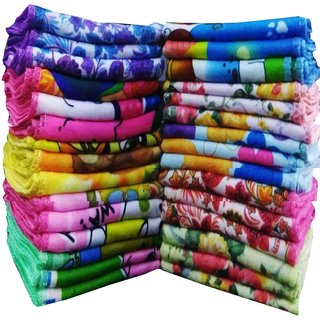 Angel homes pack of 20 face towel multicolour