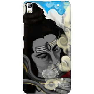 Mobicture Lord Shiva With Smoke Effect Vector Artwork Premium Printed High Quality Polycarbonate Hard Back Case Cover For Lenovo A7000 With Edge To Edge Printing