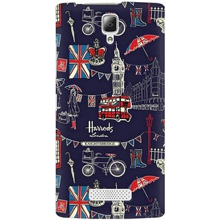 Mobicture London Fusion Premium Printed High Quality Polycarbonate Hard Back Case Cover For Lenovo A2010 With Edge To Edge Printing