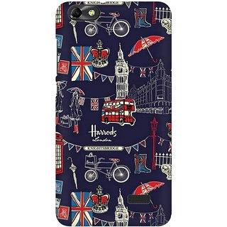 Mobicture London Fusion Premium Printed High Quality Polycarbonate Hard Back Case Cover For Huawei Honor 4C With Edge To Edge Printing