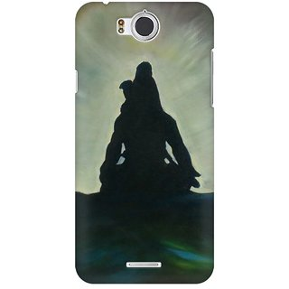 Mobicture Shiva At Peace Premium Printed High Quality Polycarbonate Hard Back Case Cover For InFocus M530 With Edge To Edge Printing
